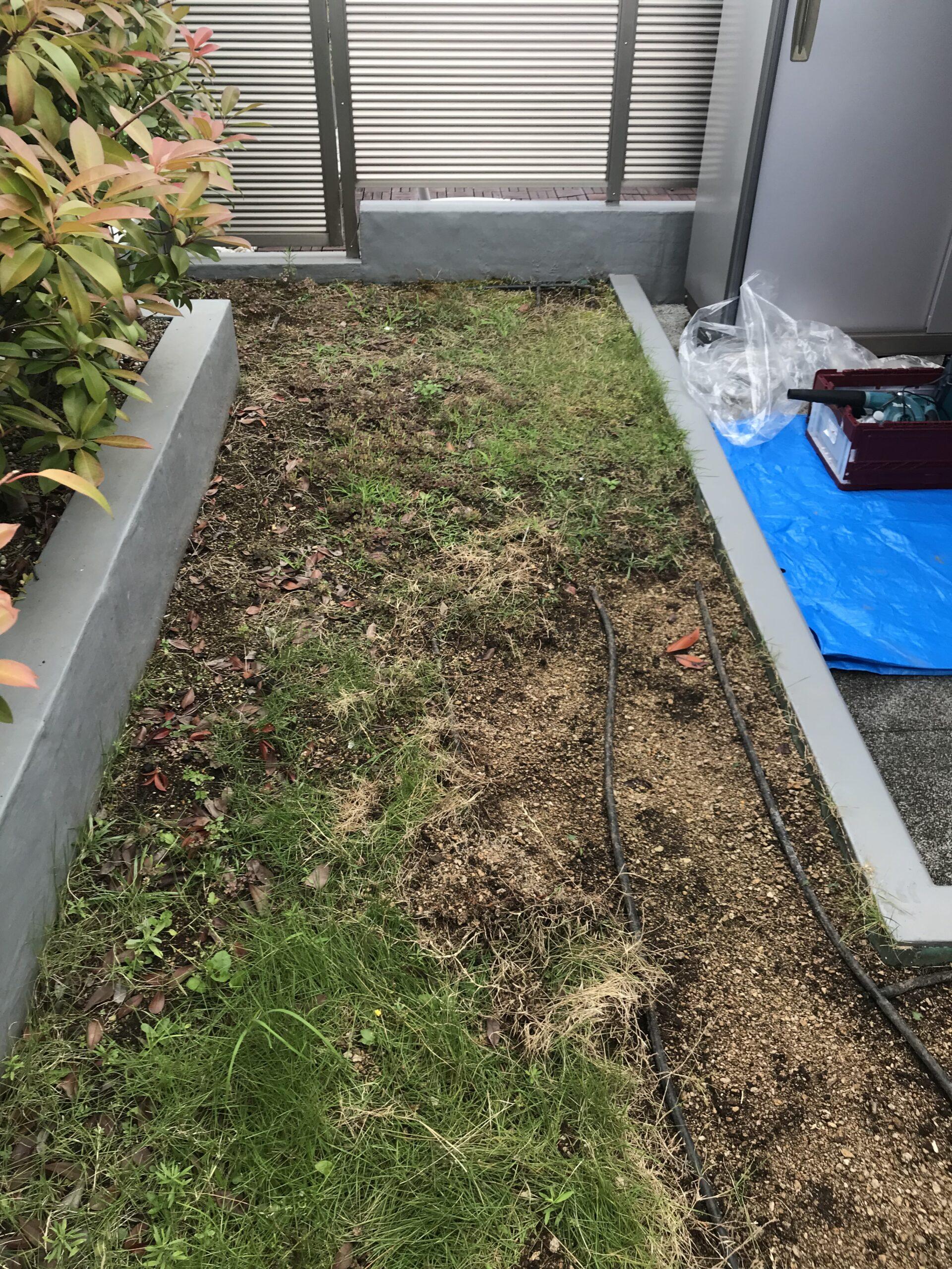 雑草対策 人工芝設置 川崎市